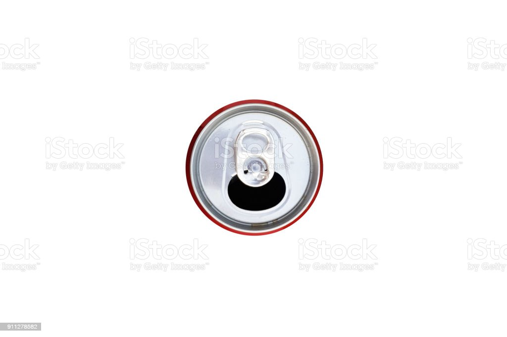 Isolated can on background stock photo
