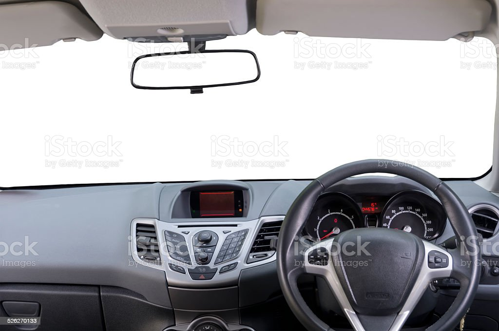 Isolated Car Interior stock photo