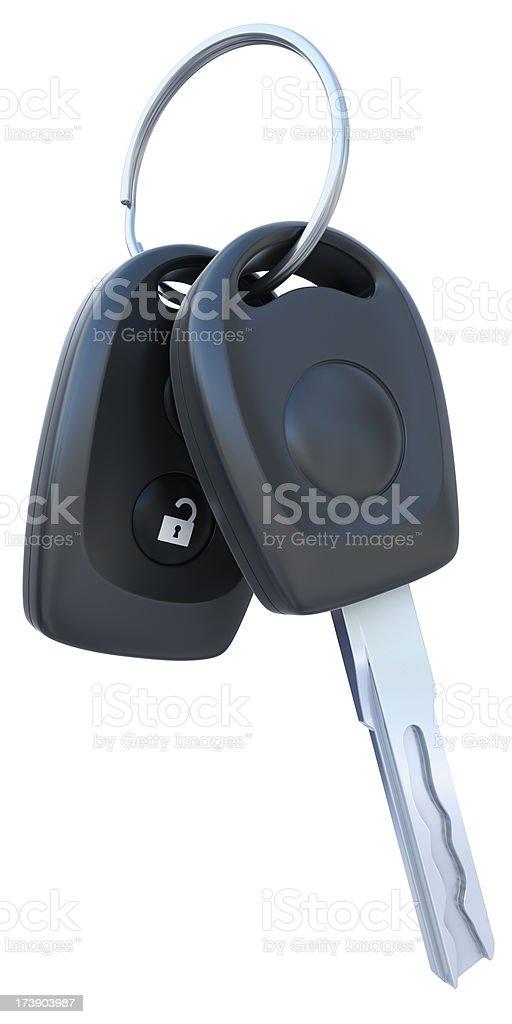 isolated car keys royalty-free stock photo