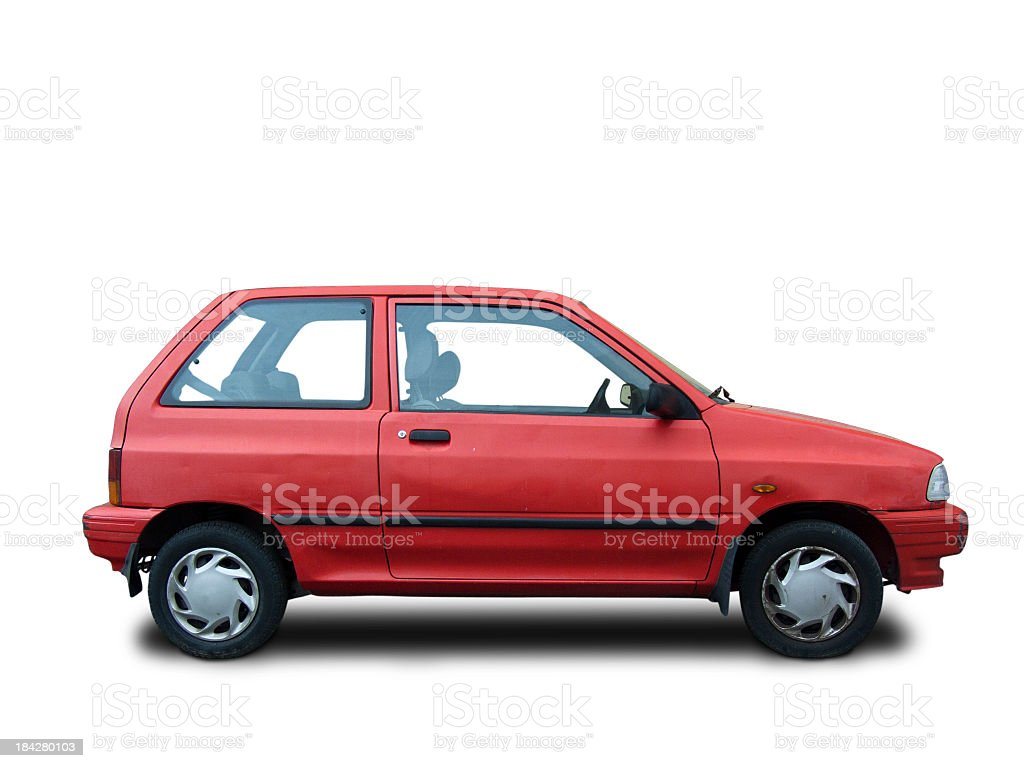 Isolated car stock photo
