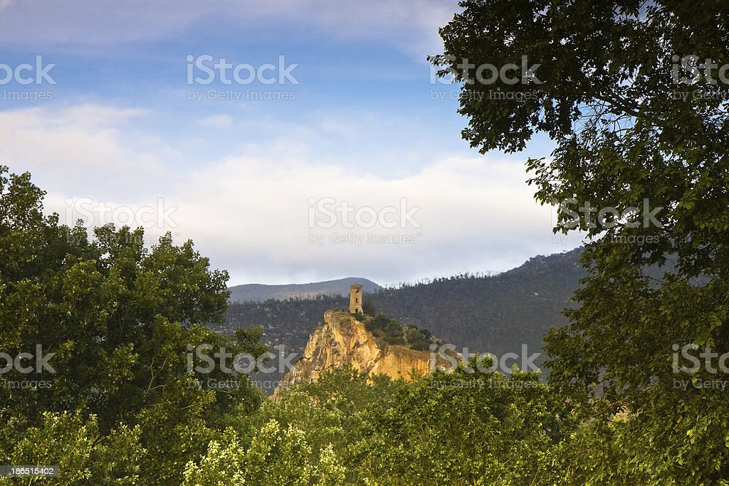 Isolated castle royalty-free stock photo