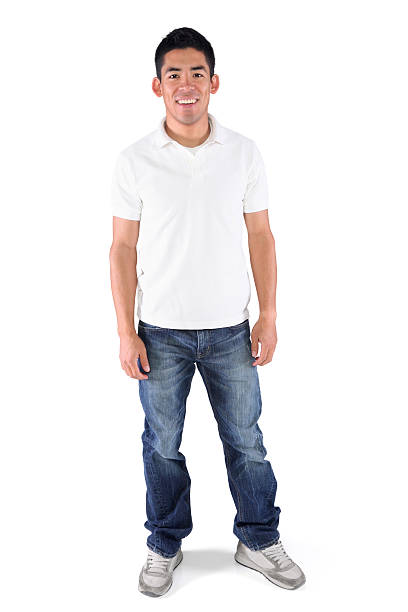 Hombre joven casual aislado - foto de stock