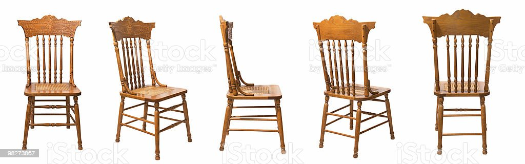 Isolated Chair, Five Positions royalty-free stock photo