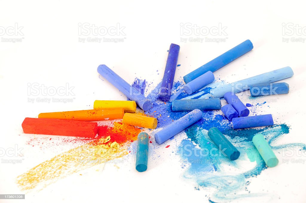 Isolated chalk pieces royalty-free stock photo