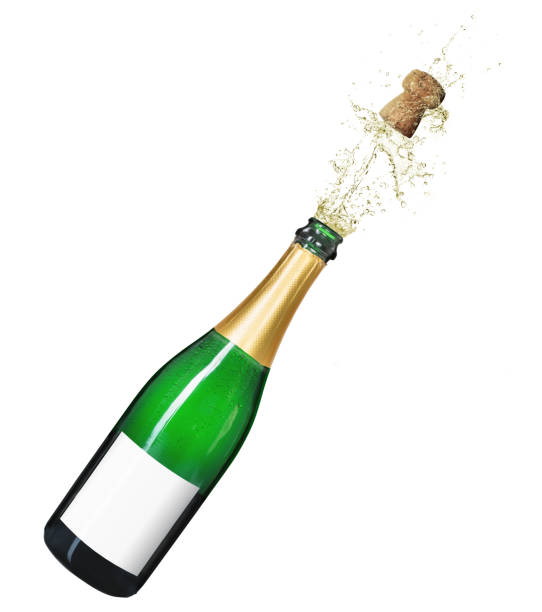 Isolated champagne bottle on a white background Isolated champagne bottle on a white background champagne stock pictures, royalty-free photos & images