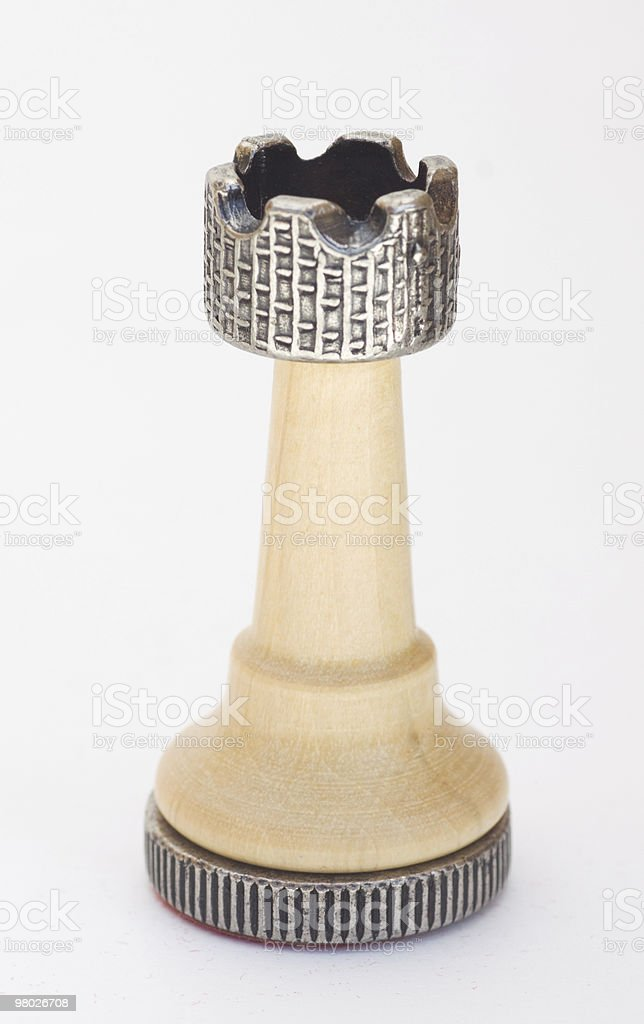 Isolated Chess Rook royalty-free stock photo
