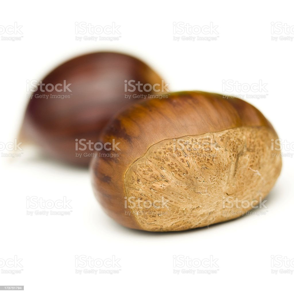Isolated chestnuts royalty-free stock photo