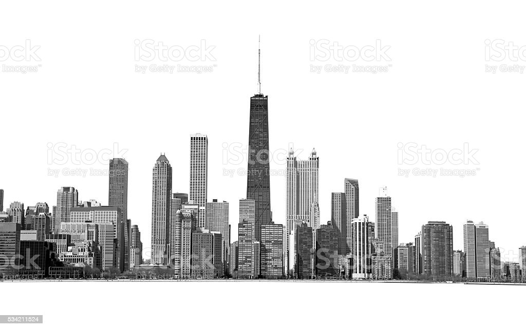 Isolated Chicago stock photo