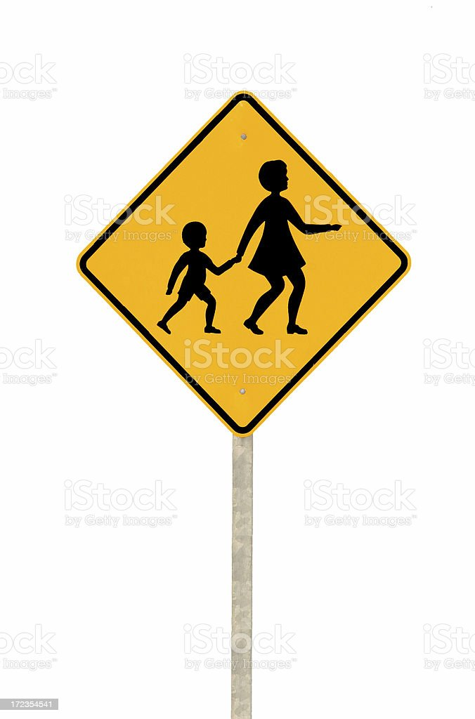 Isolated Children Crossing royalty-free stock photo