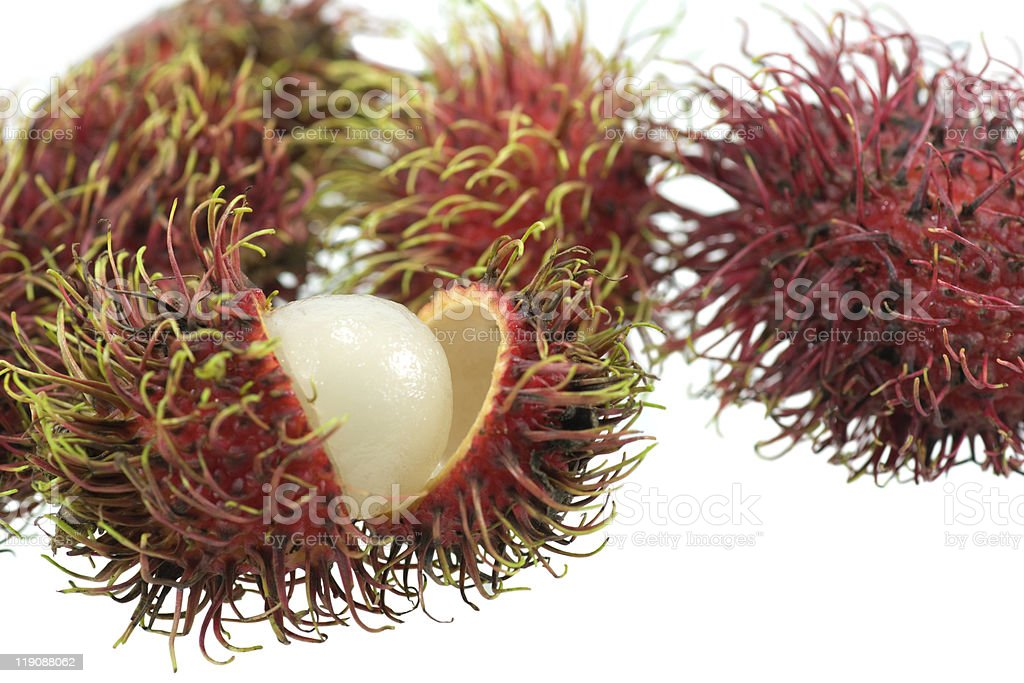 Isolated Chinese lichee fruit royalty-free stock photo