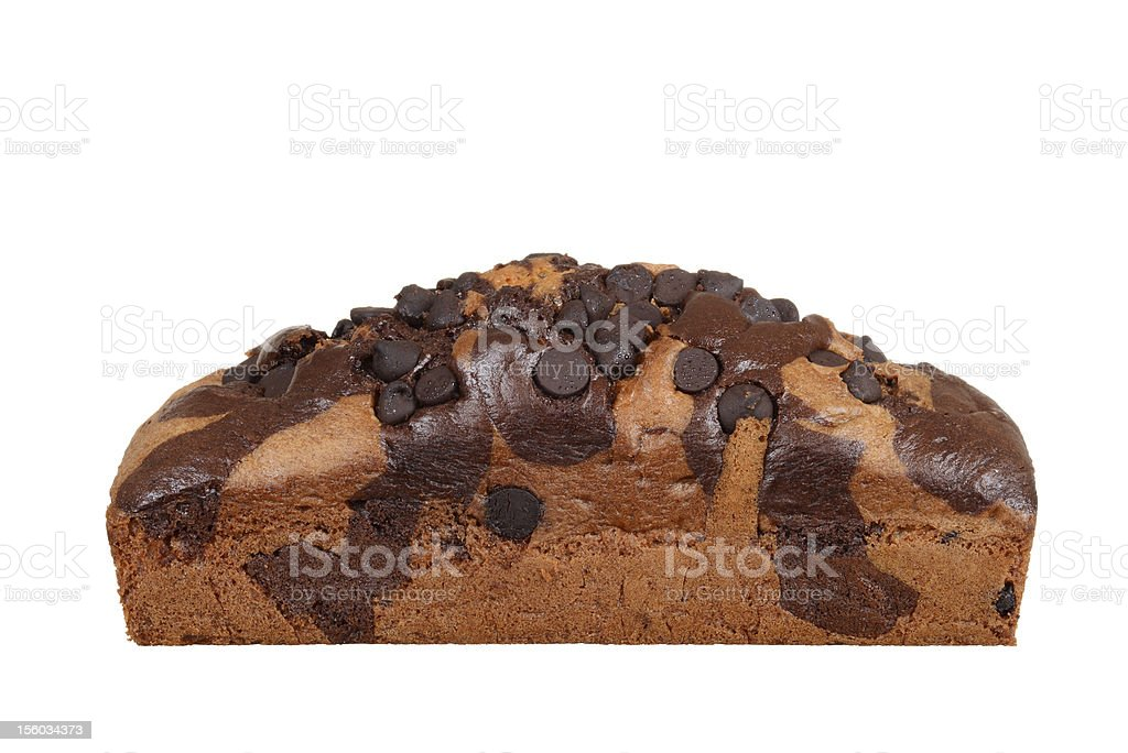 Isolated Chocolate chip pound cake royalty-free stock photo