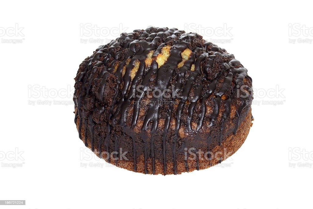 isolated chocolate marble coffee cake stock photo