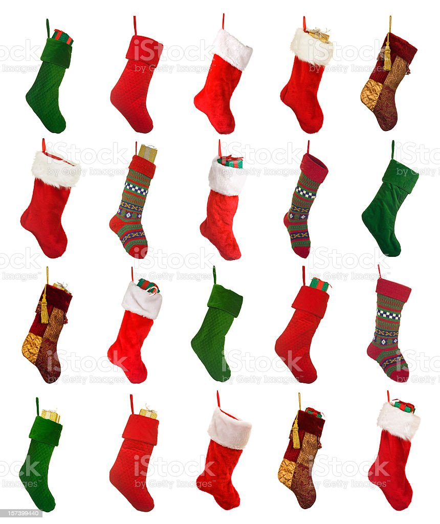 Isolated Christmas Stockings royalty-free stock photo