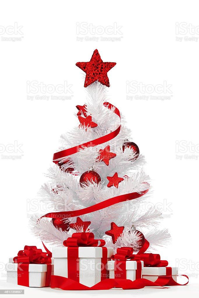Isolated Christmas tree royalty-free stock photo