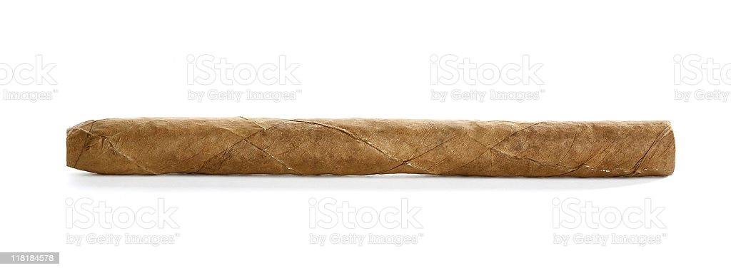 Isolated Cigar stock photo