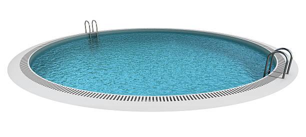 isolierte circle pool - pool rund stock-fotos und bilder