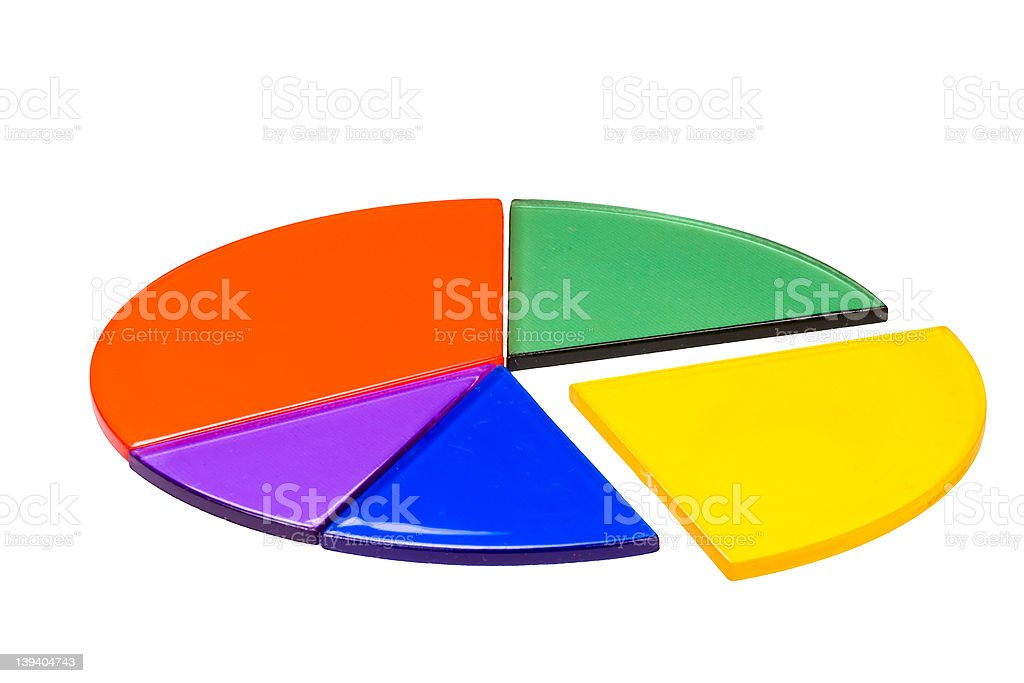 Isolated circles graph made from fraction circles royalty-free stock photo