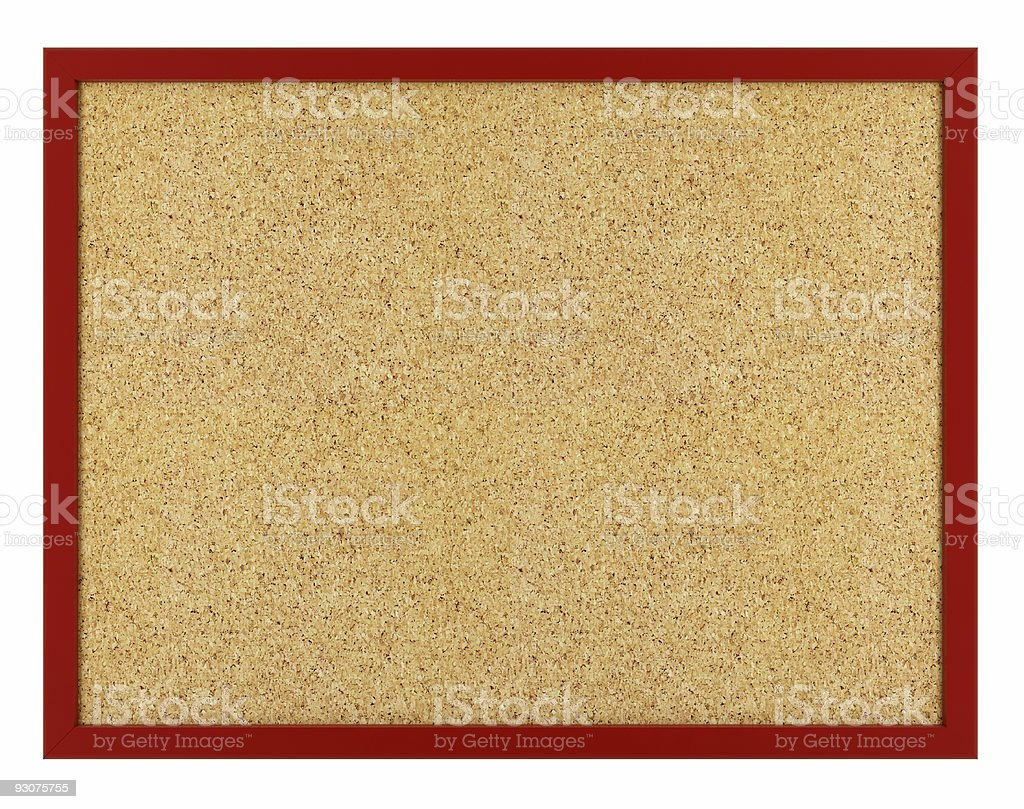 isolated classic cork board royalty-free stock photo
