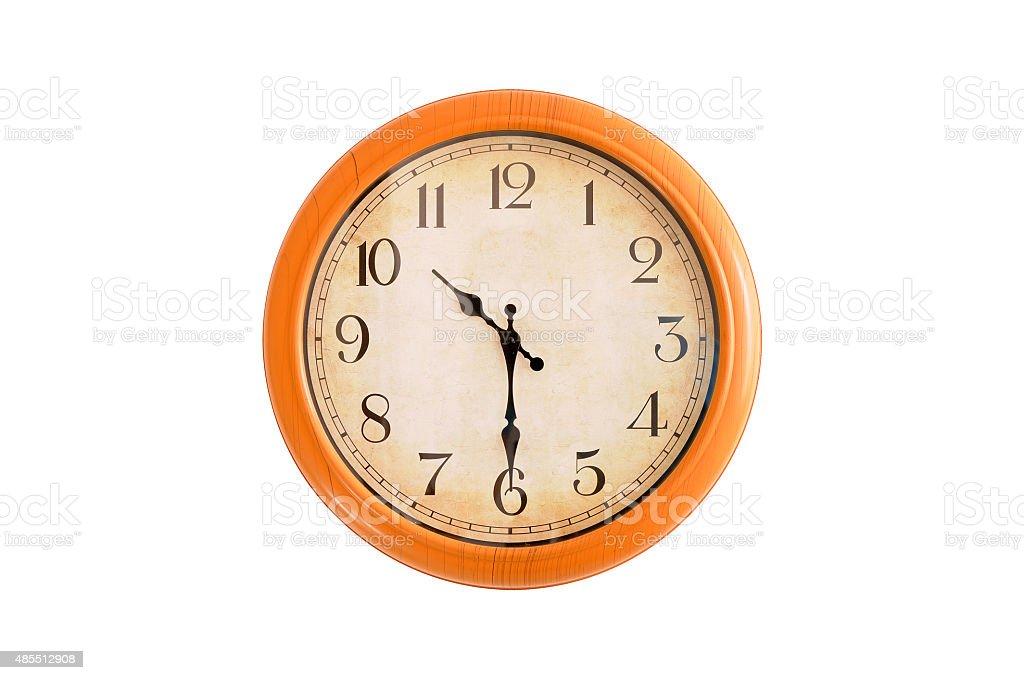 Isolated clock showing 10:30 o'clock stock photo