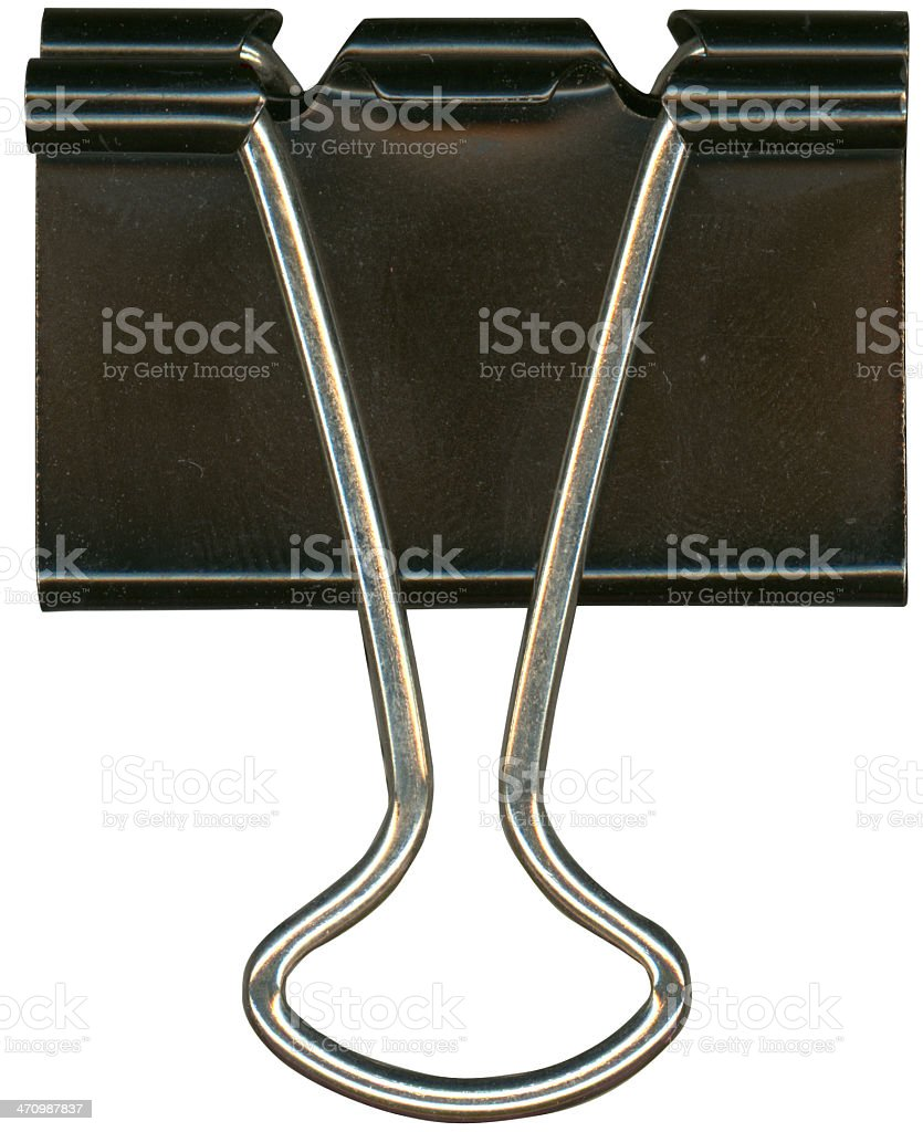 Isolated close up of a office paper clip royalty-free stock photo