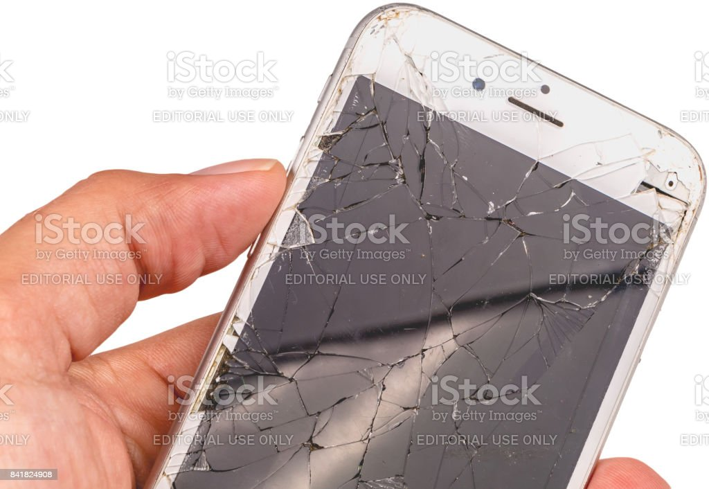 Isolated close up of an iphone 6S of the mark Apple Inc stock photo