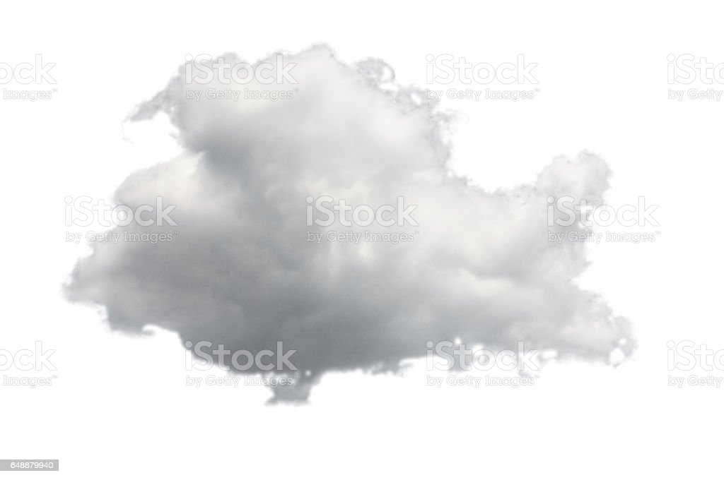 Isolated cloud for computing concept stock photo