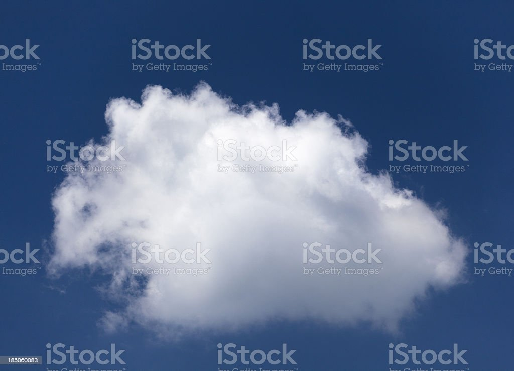 isolated cloud over blue sky stock photo