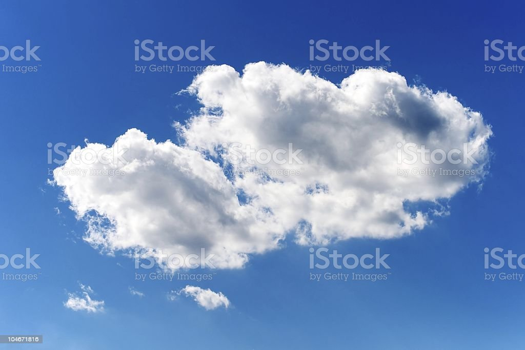 Isolated Cloud royalty-free stock photo