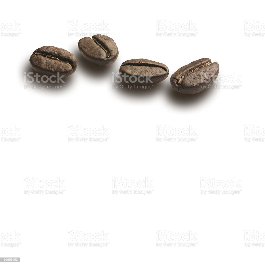 Isolated Coffee beans royalty-free stock photo