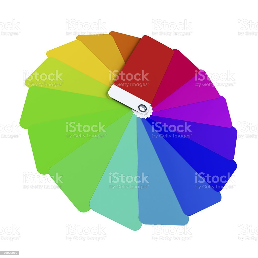 isolated color card 3d rendering royalty-free stock photo