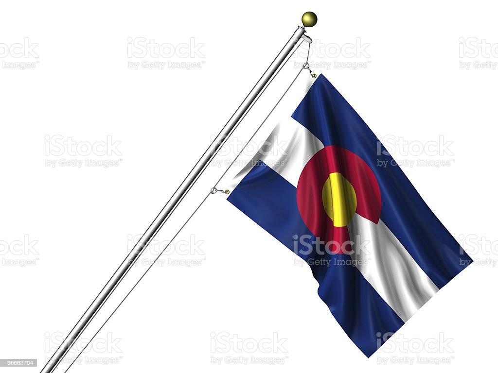 Isolated Colorado Flag stock photo