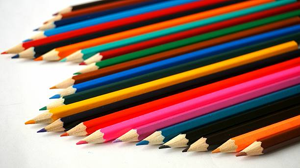 Isolated Colored Pencils stock photo