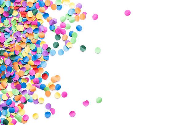 Isolé des confettis colorés - Photo