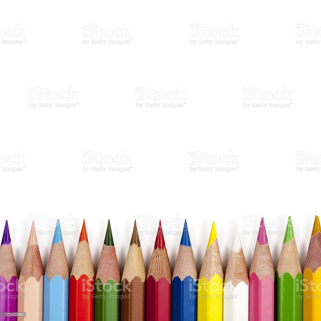 Isolated Colorful Pencils royalty-free stock photo