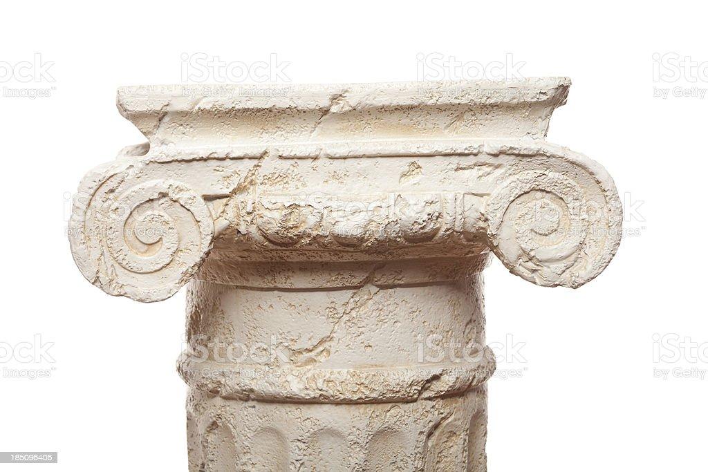 Isolated column on white XXXL royalty-free stock photo