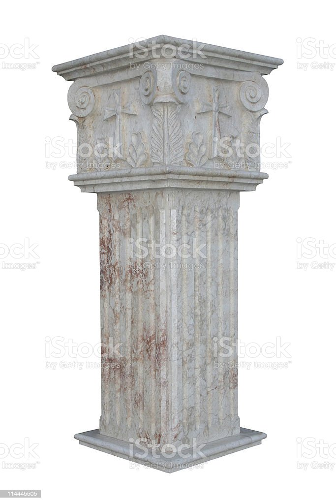 Isolated column royalty-free stock photo
