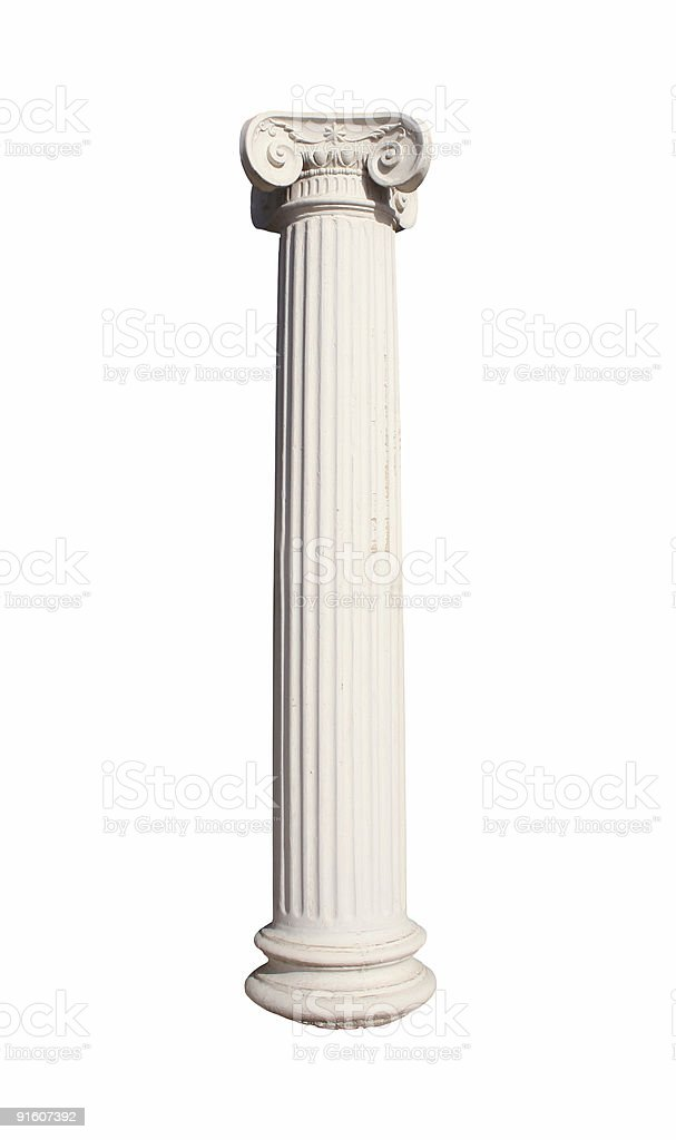 Isolated column stock photo