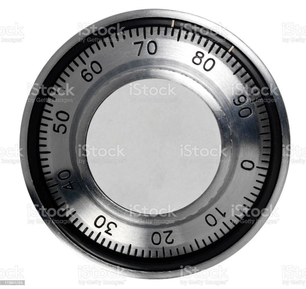 Isolated  Combination Safe Dial stock photo
