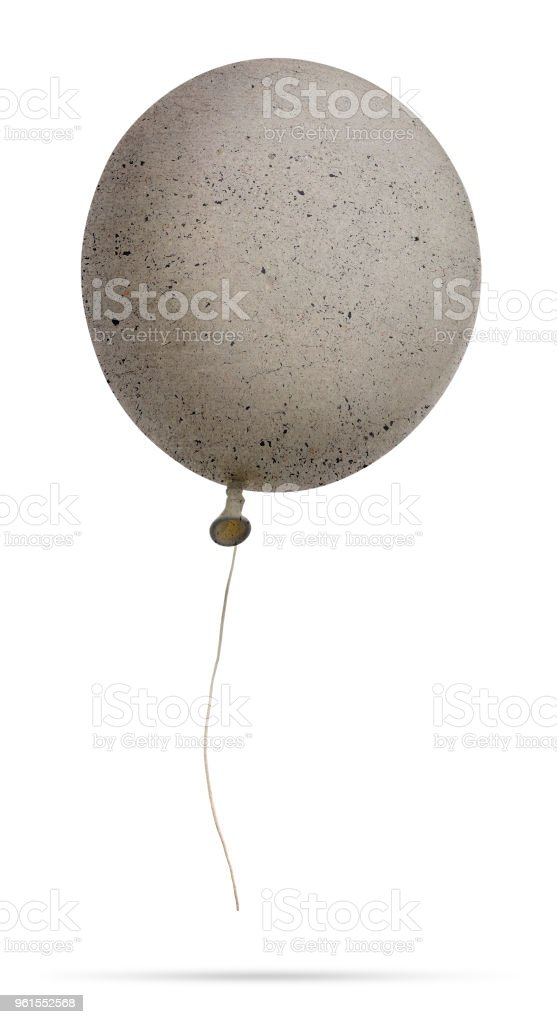 Isolated Concrete Balloon stock photo