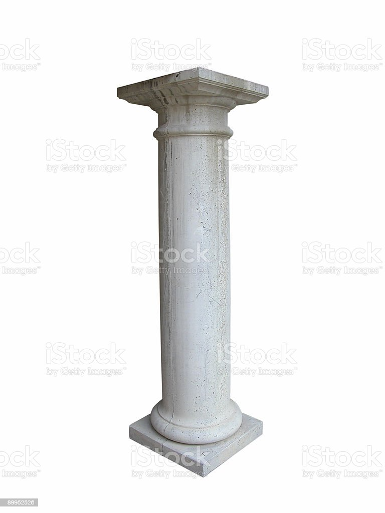Isolated Concrete Column royalty-free stock photo
