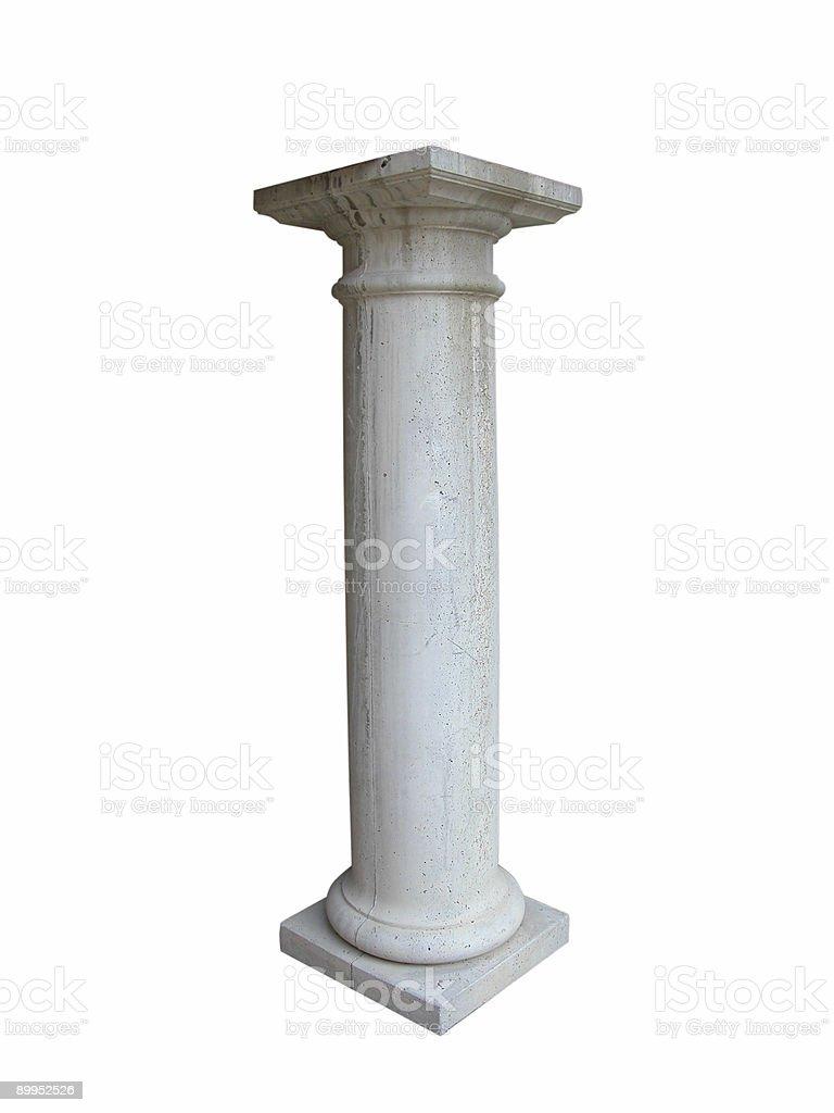 Isolated Concrete Column stock photo