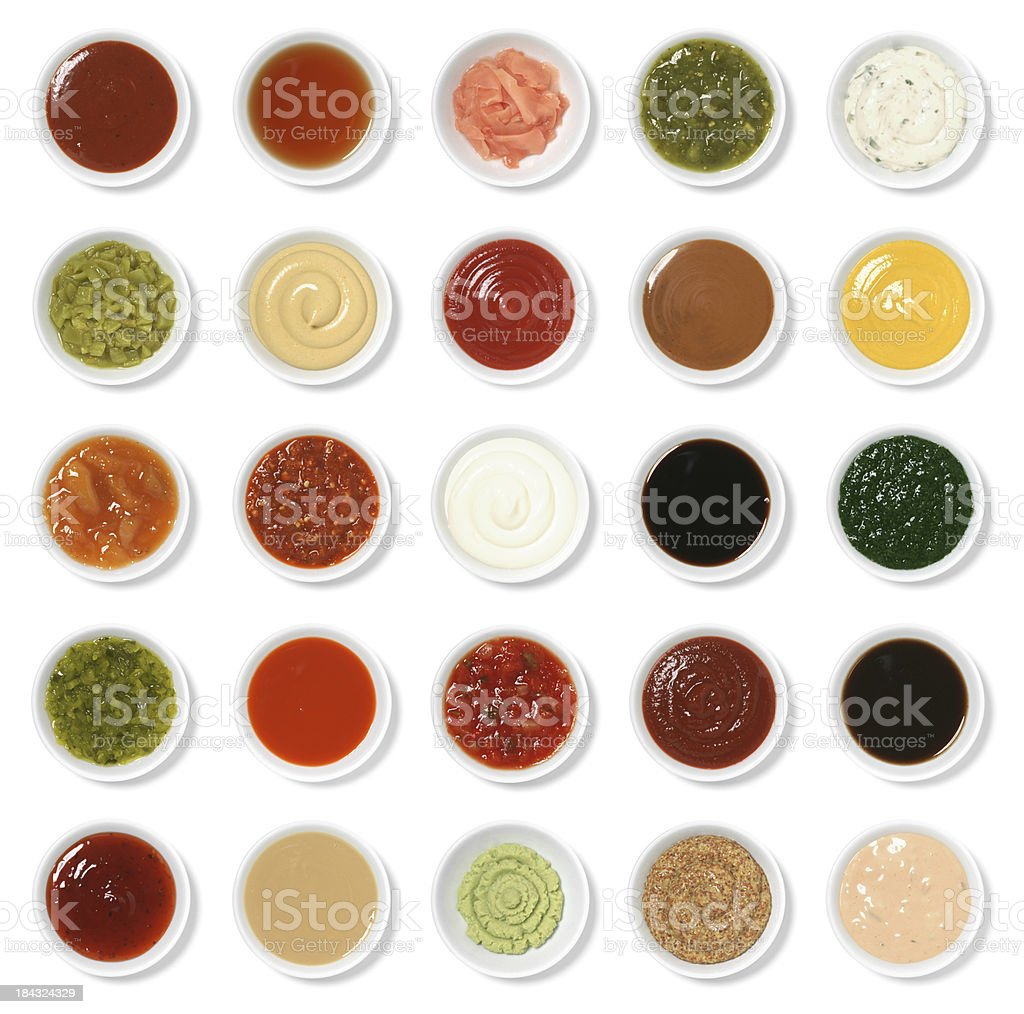 Isolated Condiment Collection Assortment royalty-free stock photo