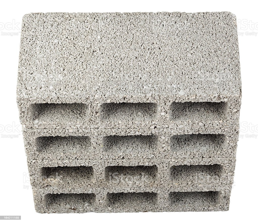 Isolated Construction Blocks - Four High Angle royalty-free stock photo