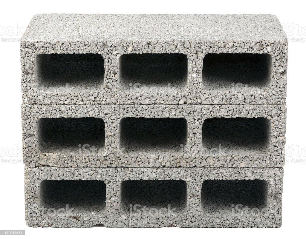 Isolated Construction Blocks - Three stock photo