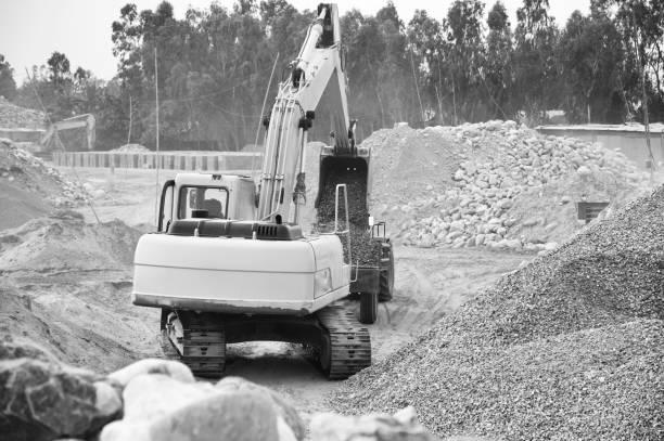 Isolated construction vehicles unique photo stock photo