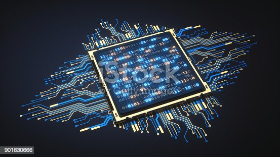 istock Isolated CPU With Binary Numbers 901630666