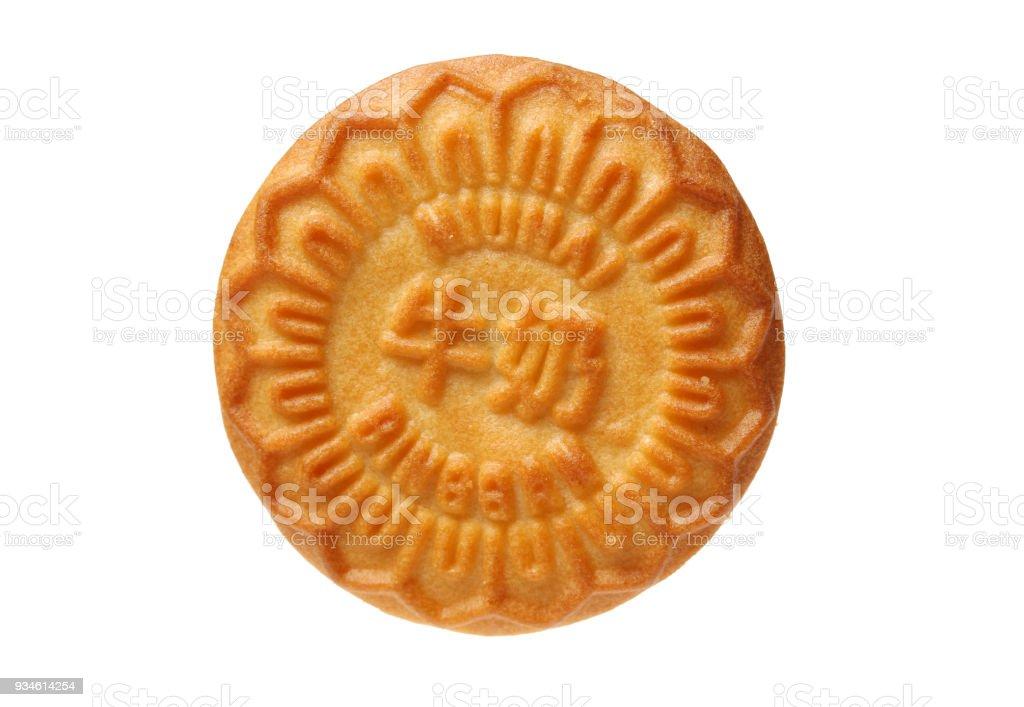 Isolated crackers on white background stock photo