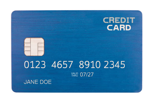 Isolated Credit Card With Chip stock photo