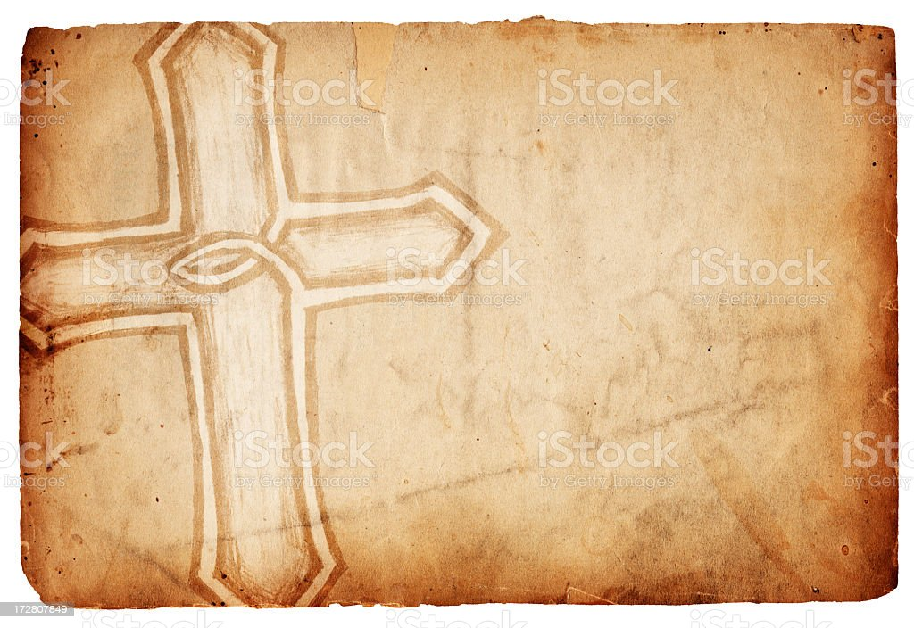 Isolated Cross Paper XXXL royalty-free stock photo