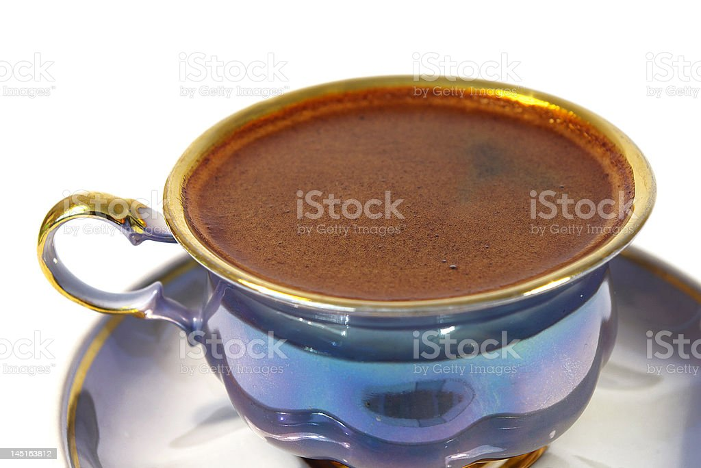 isolated cup of black  coffee royalty-free stock photo